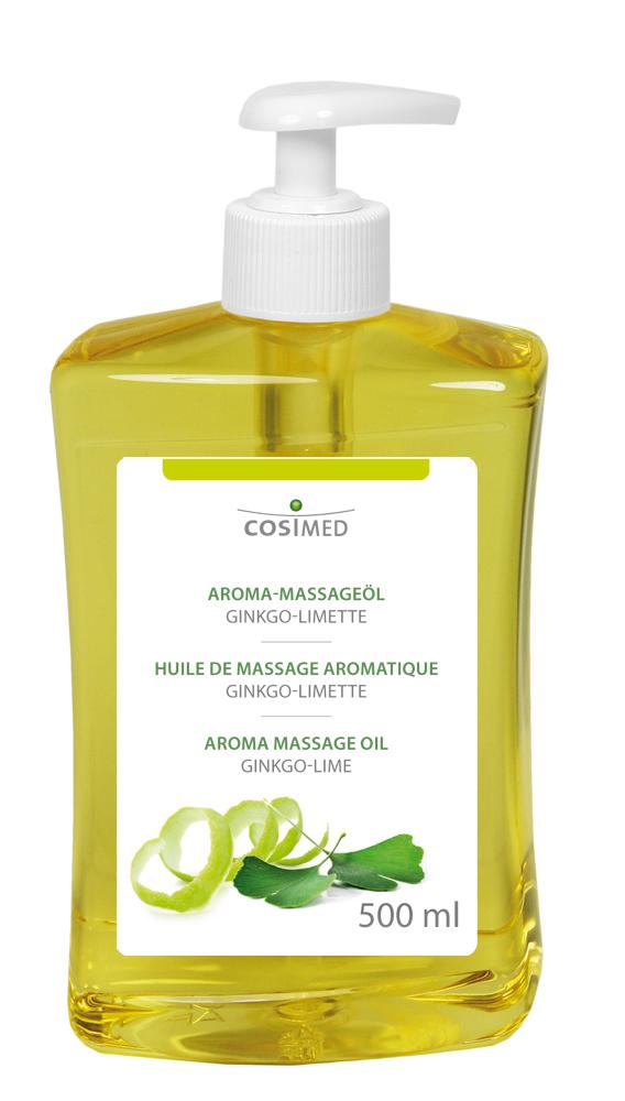 cosiMed Aroma-Massageöl Ginkgo-Limette 500ml Dosierflasche