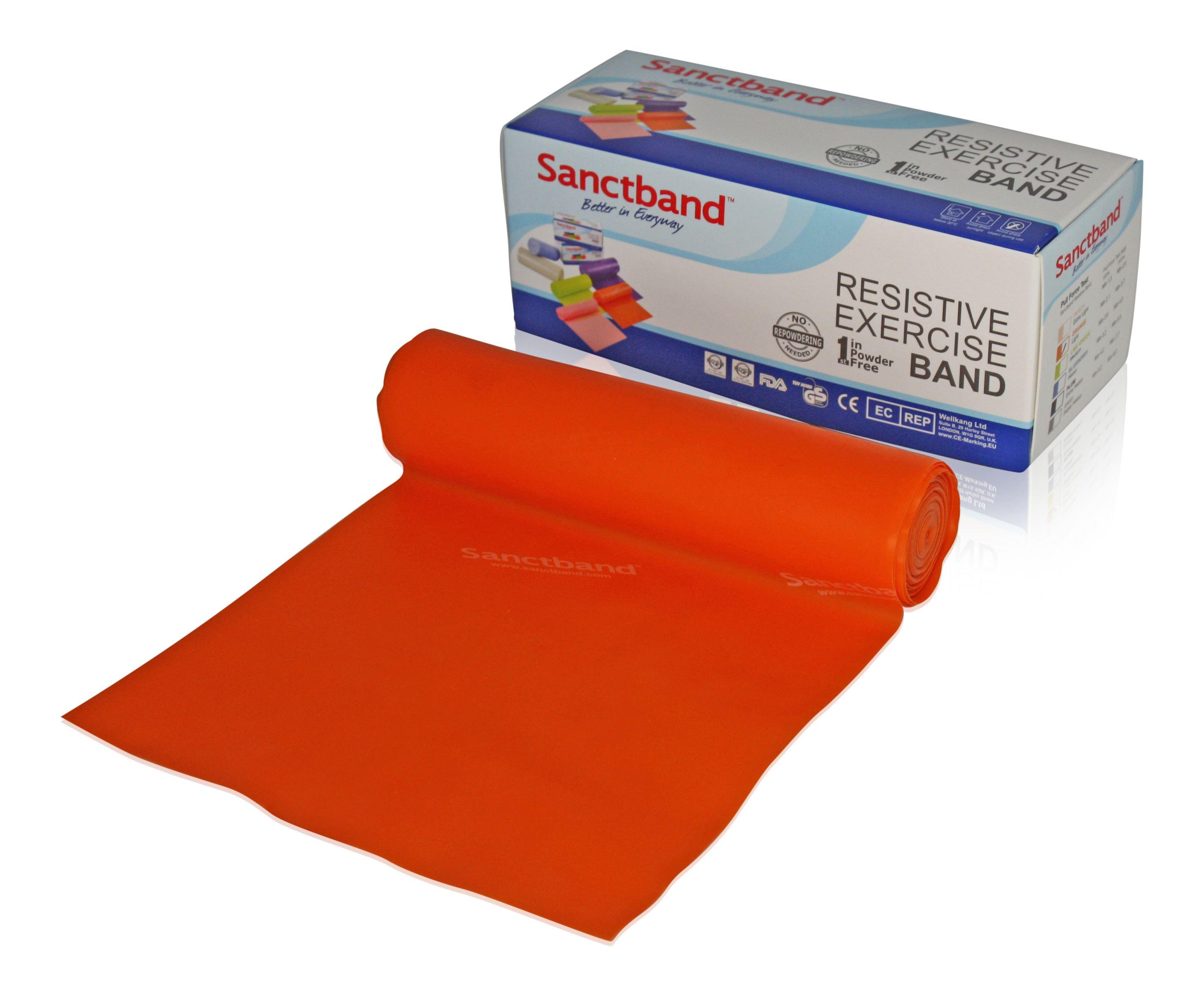 Sanctband Gymnastikband Rolle 5,5m Orange