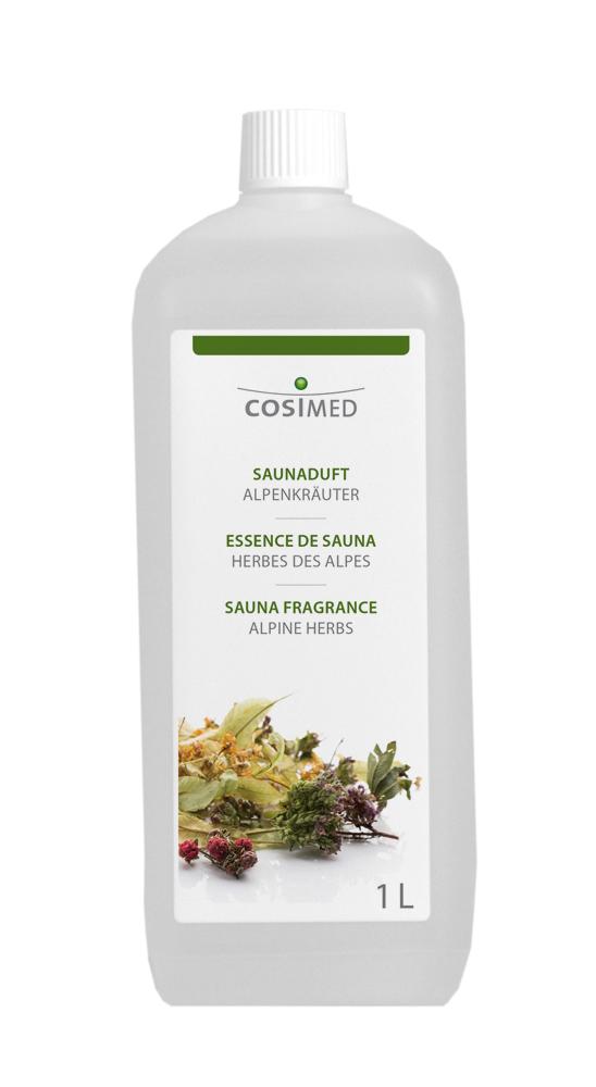 cosiMed Saunaduft Alpenkräuter 1 Liter Flasche