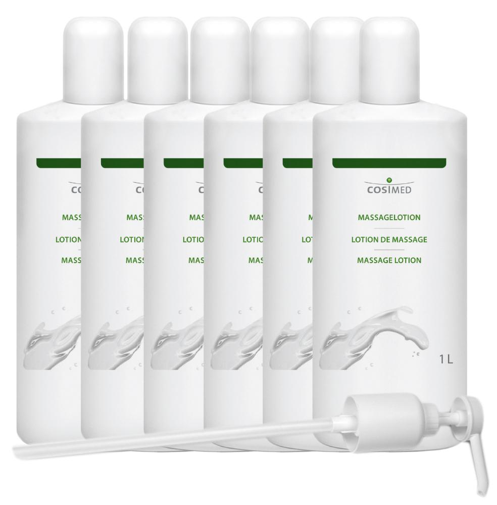 cosiMed Massagelotion Bundle 6 Flaschen á 1 Liter mit Spender