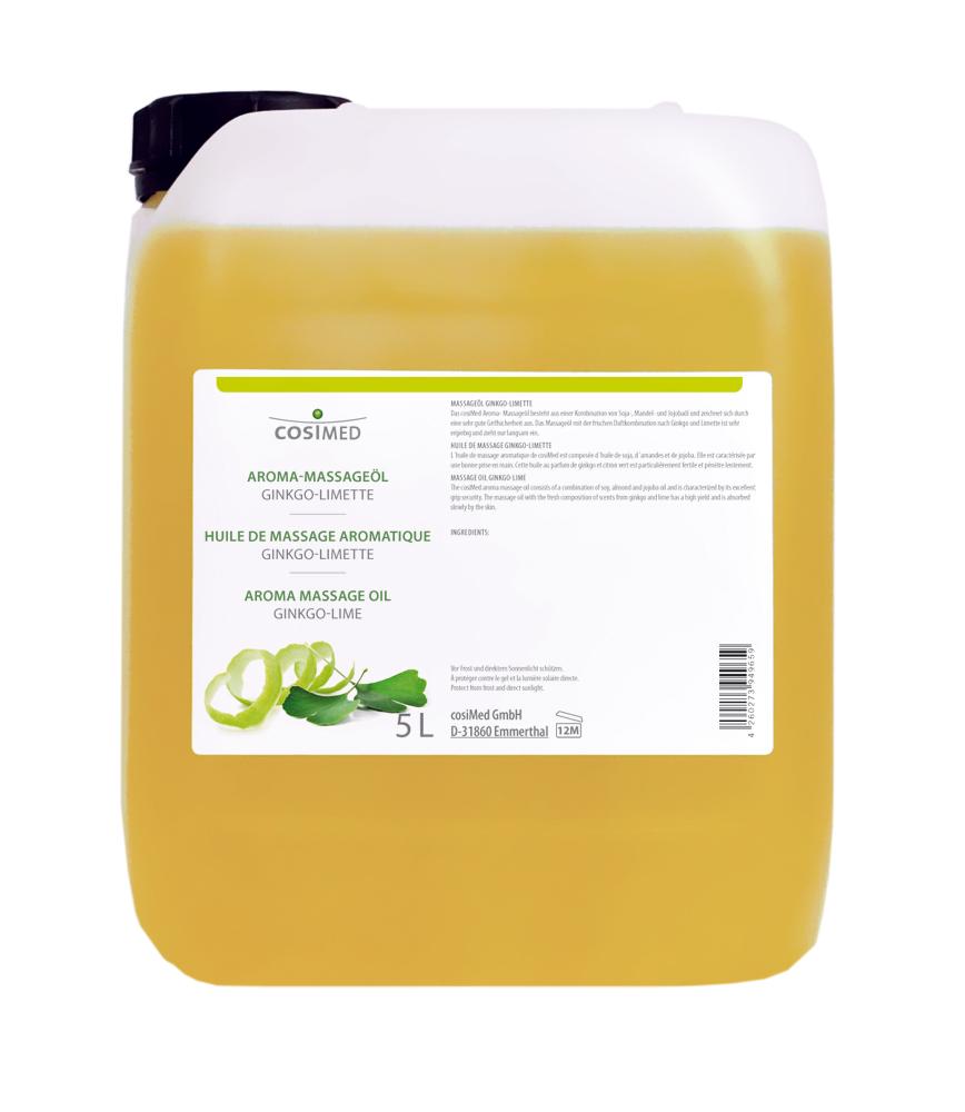 cosiMed Aroma-Massageöl Ginkgo-Limette 5 Liter Kanister
