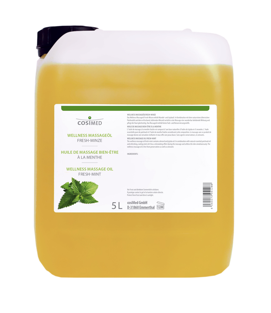 cosiMed Wellness-Massageöl Fresh-Minze 5 Liter Kanister