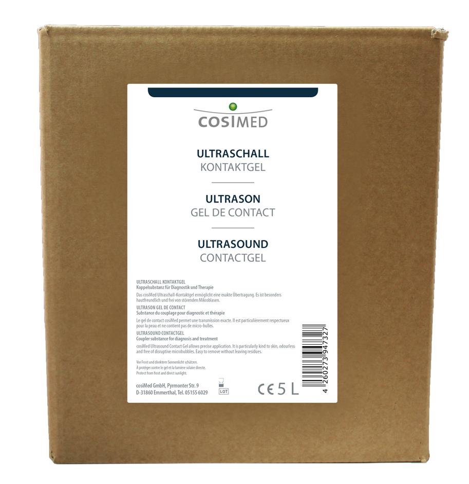Verpackungskarton für cosiMed Ultraschall Kontaktgeld 5 L Kanister