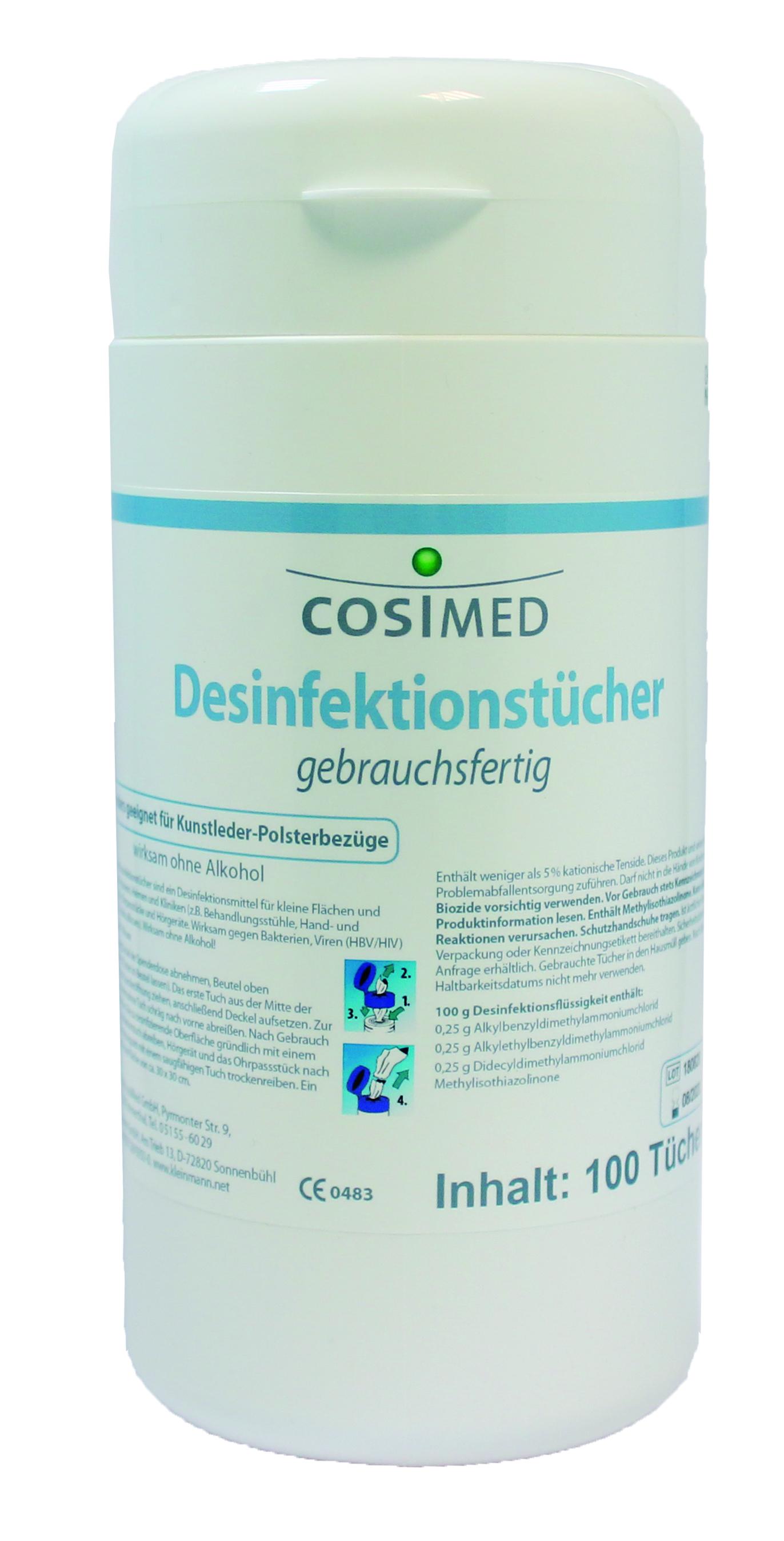 cosiMed Desinfektionstücher gebrauchsfertig 100 Tücher