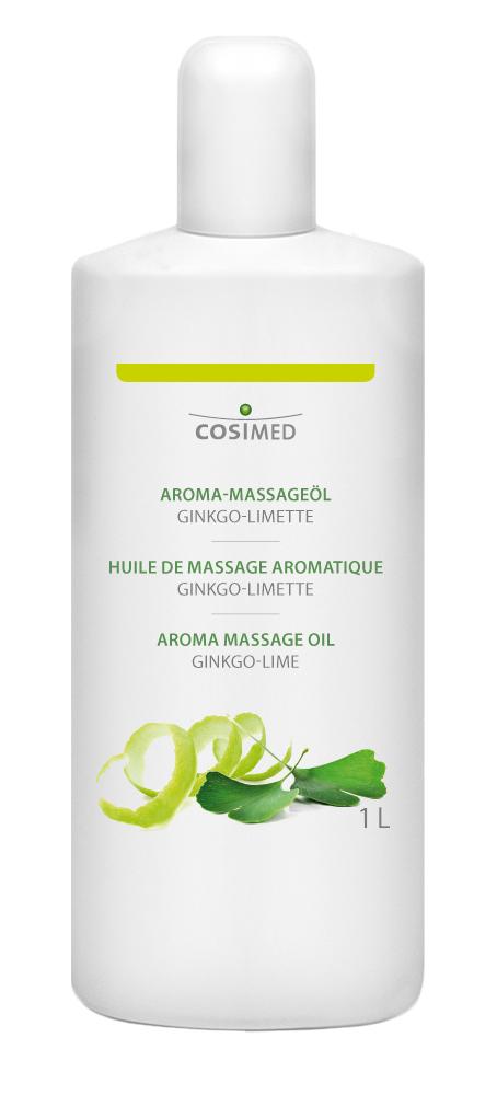 cosiMed Aroma-Massageöl Ginkgo-Limette 1 Liter Flasche