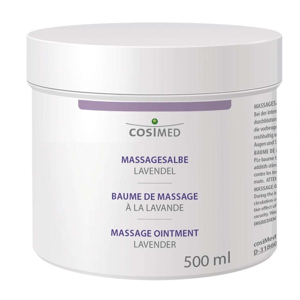 cosiMed Massagesalbe Lavendel im 500 ml Tiegel