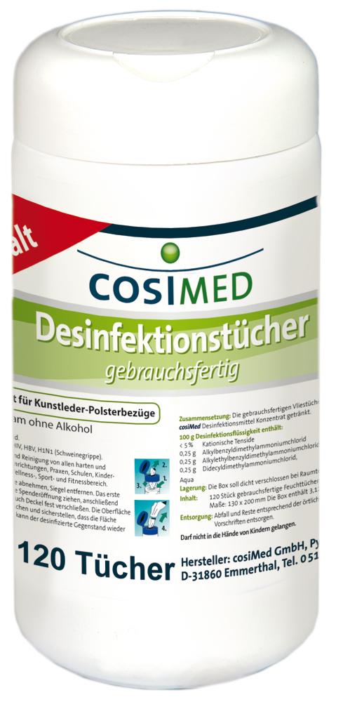 cosiMed Desinfektionstücher gebrauchsfertig 120 Tücher
