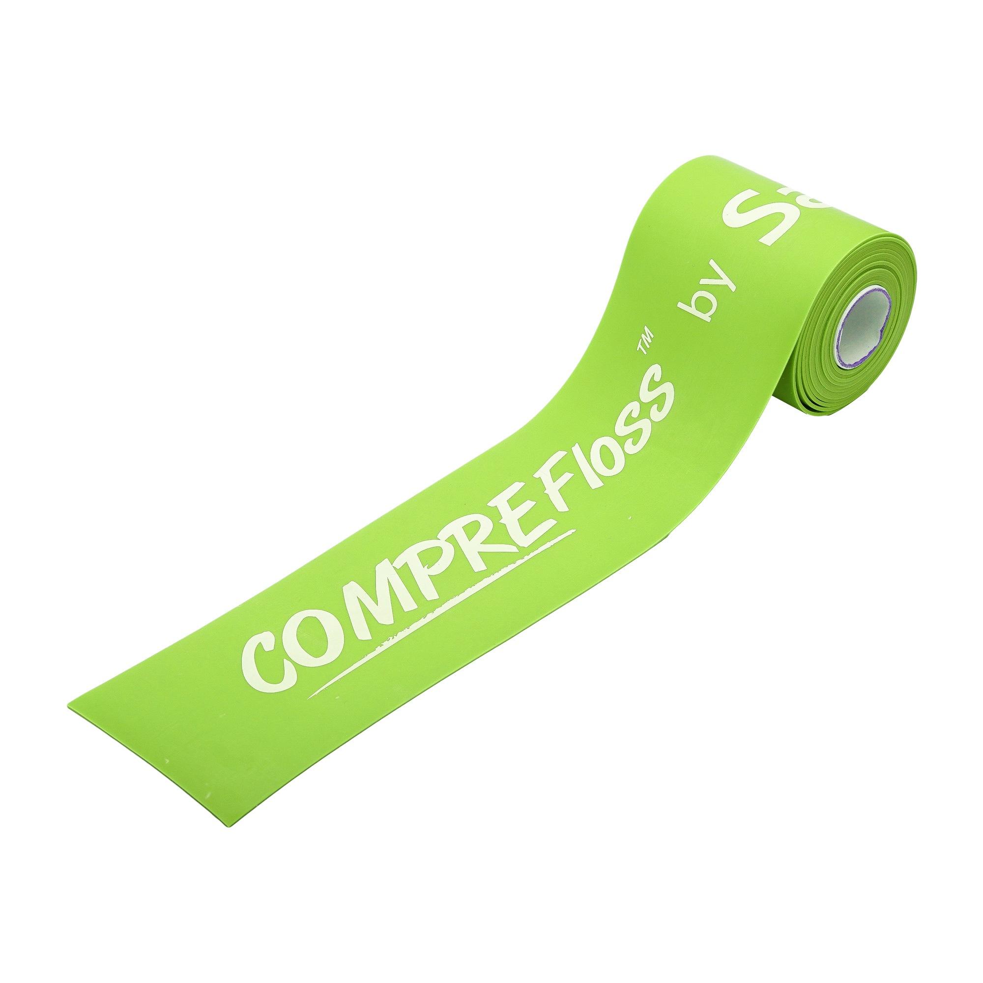 Sanctband Comprefloss Flossband extra breit 7,5cm und extra lang 3,5m Lime limette