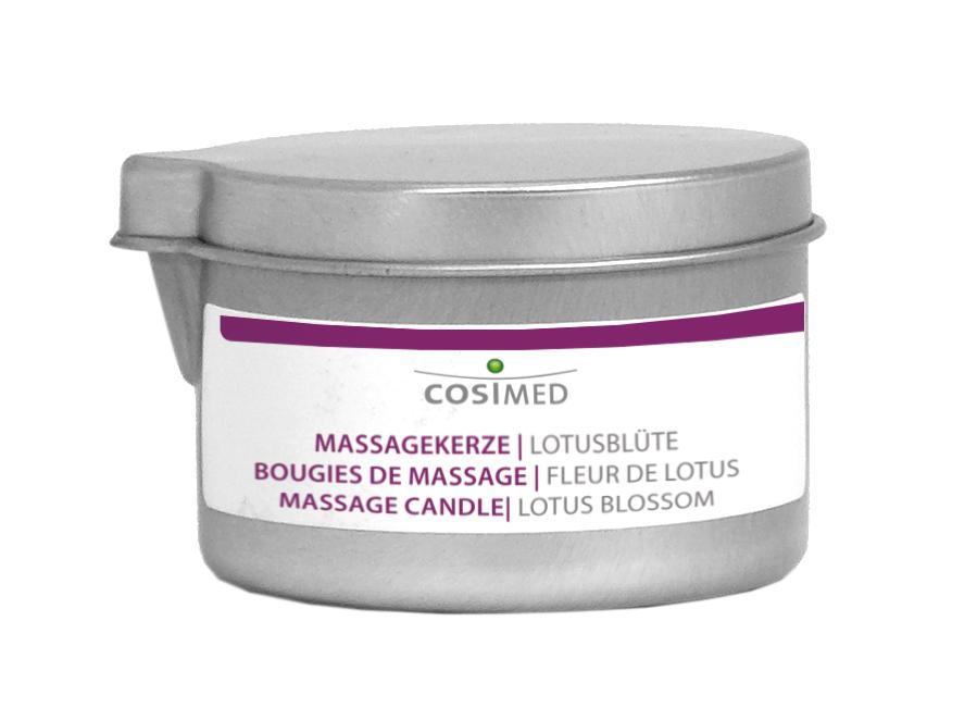 cosiMed Bio Massagekerze Lotusbluete