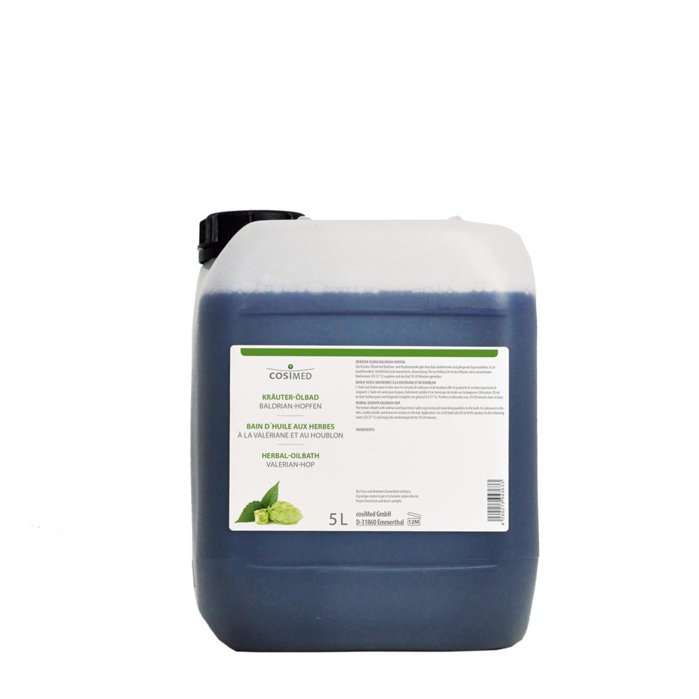 cosiMed Kräuter-Ölbad Baldrian Hopfen 5 Liter Kanister