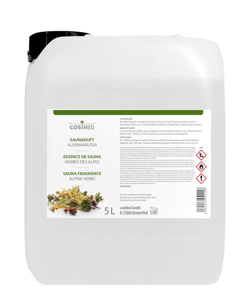 cosiMed Saunaduft Alpenkräuter 5 Liter Kanister