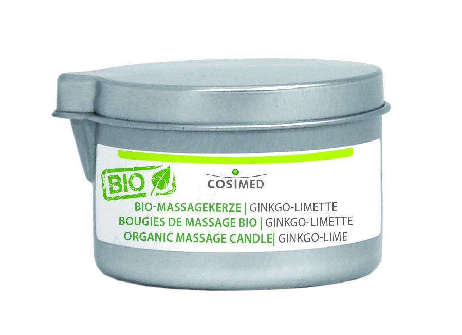 cosiMed Bio Massagekerze Ginkgo-Limette