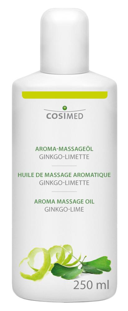 cosiMed Aroma-Massageöl Ginkgo-Limette 250ml Flasche
