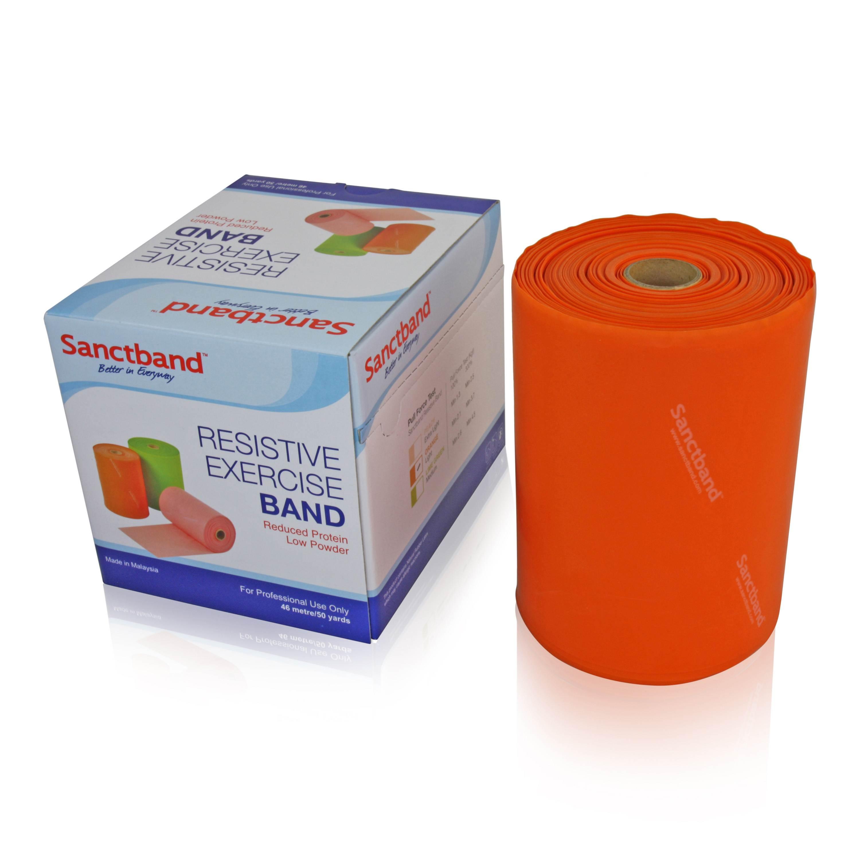 Sanctband Gymnastikband Rolle 46m Orange
