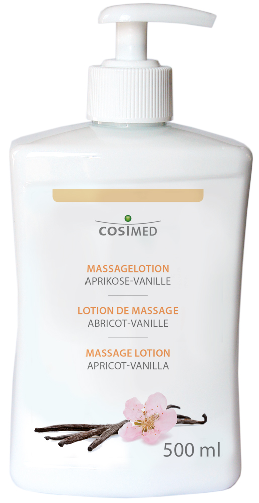 cosiMed Massagelotion Aprikose-Vanille 500ml Dosierspender
