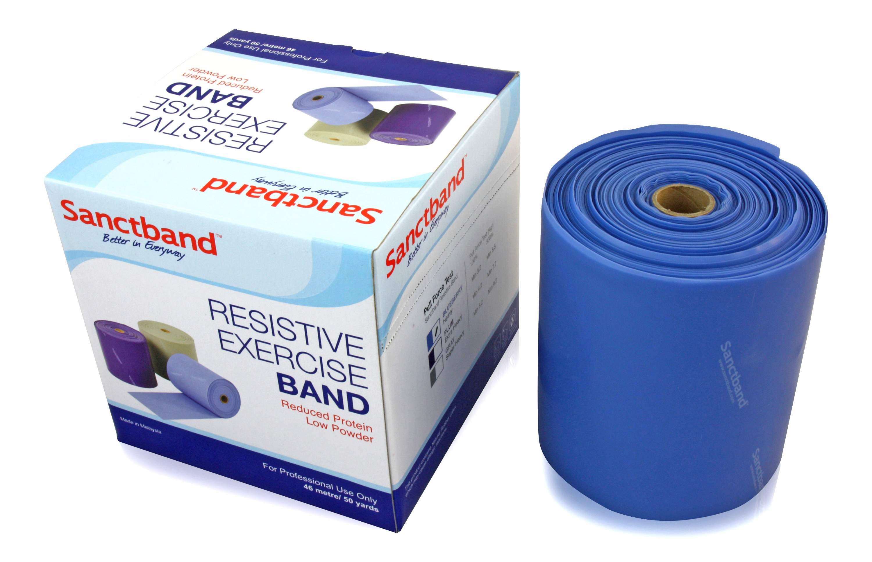 Sanctband Gymnastikband Rolle 46m Blueberry Blau