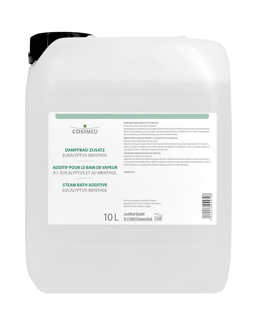 cosiMed Dampfbad Zusatz Eukalyptus-Menthol 10 Liter Kanister