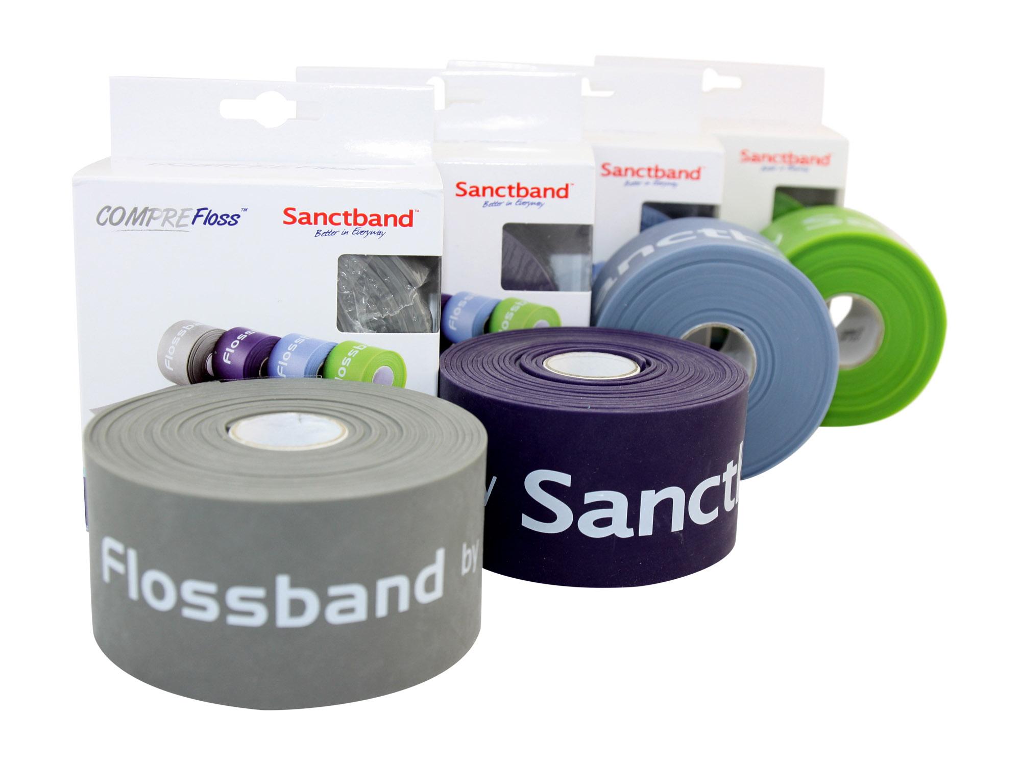 4er Set extra lang 3,5 Sanctband Flossband Comprefloss mit allen vier Stärken