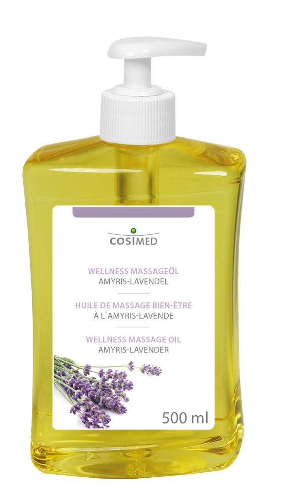 cosiMed Wellness-Massageöl Amyris-Lavendel 500ml Dosierflasche